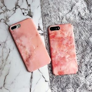 NEW iPhone X/7/8/7+/8+ Cracked Marble Case